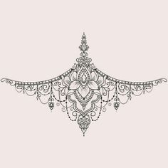 A wide variety of small tattoos for women small meaningful tattoos Sternum Tattoo Design, Mandala Sternum Tattoo, Lace Tattoo, Tattoo Designs, Sternum Tattoos, Tattoo Ink, Tattos, Dope Tattoos, Body Art Tattoos