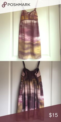 Multicolored mini dress This is a great dress for summer. It has different shades of purple and yellow. In brand new condition Xhilaration Dresses Mini