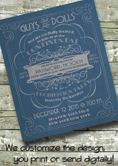 Vintage Speakeasy  Prohibition Birthday  by DitDitDigital on Etsy