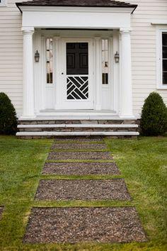 Stone veneer for concrete steps