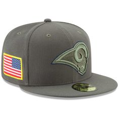 Los Angeles Rams New Era 2017 Salute To Service 59FIFTY Fitted Hat – Olive 5382bd7ed33f