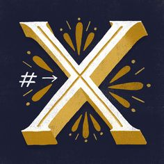 The Letter X - Typography and Hand Lettering