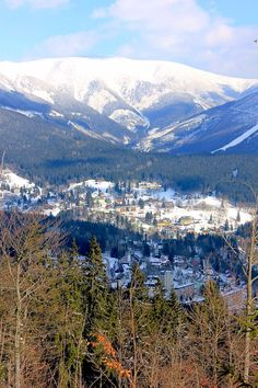 March 16, 2013. The stunning beauty of Spindleruv Mlyn and Krkonose National Park in Czech Republic.