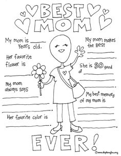 You are going to love these darling free printable Mother's Day coloring pages! They make the perfect card for Mom. You are going to love these darling free printable Mother's Day coloring pages! They make the perfect card for Mom. Mothers Day Crafts For Kids, Fathers Day Crafts, Mothers Day Poems, Mothers Day Shirts, Happy Mothers, Mothers Day Coloring Pages, Spring Coloring Pages, Coloring Pages To Print, Mother's Day Activities