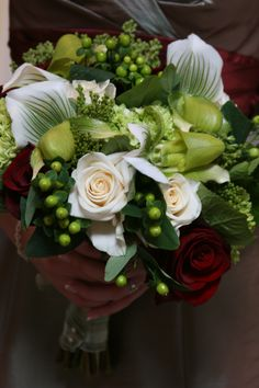 lady slipper orchid bouquet
