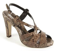 LENA MILOS  Python leather sandals woven available in the colors blue and brown designer Lena Milos... http://www.fashionforstyle.it/01scarpa-donna/10901553-sandalo-pitone-intreccio.html