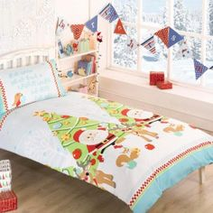 Christmas Tree Christmas Duvet Cover - Cot Bed, junior bed, single, double