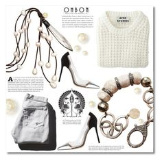 """""""OHBON ~contest~"""" by dolly-valkyrie ❤ liked on Polyvore featuring Acne Studios, Garance Doré, Gianvito Rossi, women's clothing, women's fashion, women, female, woman, misses and juniors"""
