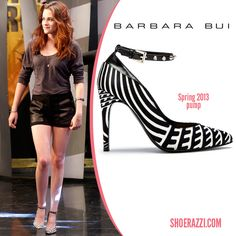 Kristen Stewart wore Barbara Bui ankle-strap pumps for her appearance on 'El Hormiguero' in Madrid.  continue reading →