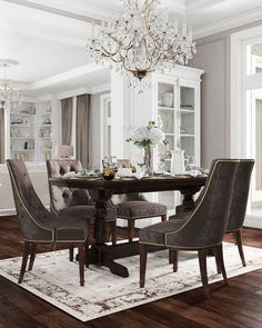 Luxury Home Decor, Luxury Interior, Home Interior Design, Home Office Design, House Design, Elegant Dining Room, Beautiful Dining Rooms, Dining Room Design, Formal Living Rooms