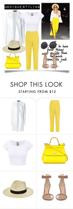 """""""Rectangle bod shape styling"""" by monicazelin on Polyvore featuring Calvin Klein Collection, Issa, Dolce&Gabbana, Boohoo and Gianvito Rossi"""