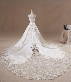 Beautiful Ivory Strapless Wedding Dresses by lindayang1122.deviantart.com on @DeviantArt