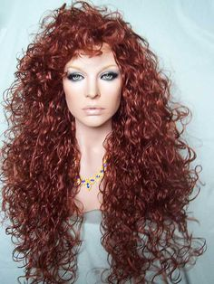 Lioness Drag Wig in oversized Fox Red  color!