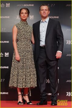 Matt Damon & Alicia Vikandar Continue 'Jason Bourne' Press In South Korea!: Photo #3701510. Matt Damon is dapper in a suit while attending the premiere of his new film Jason Bourne held on Friday (July 8) in Seoul, South Korea.    The 45-year-old actor…