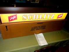 Nos Schlitz Pool Table Light Lamp Beer Bar Billiards Sign Milwaukee Wi Mint