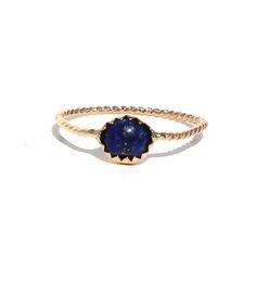 Gold Lapis Lazuli Stacking Ring by Lumo on Scoutmob