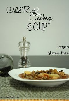 Wild Rice & Cabbage Soup (vegan, oil-free & gluten-free) - sweetsaltyspicy.net
