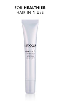 Maintaining your look, from heat styling to highlighting, can take quite a toll on your hair. Nexxus Emergencée Reconstructing Treatment is a once-a-week treatment that's designed to undo whatever life throws at your hair. Enriched with high concentrations of protein, collagen, and elastin, this intensive formula dramatically improves hair health, shine, and flexibility. Try it after chemical color treatments to restore strength and movement in one use.