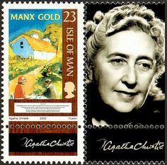 Detective Fiction on Stamps: Isle of Man: Agatha Christie (Hercule Poirot, Miss Jane Marple) Agatha Christie, Hercule Poirot, Rare Stamps, Miss Marple, Stieg Larsson, Manx, Malcolm Gladwell, Tampons, Stamp Collecting