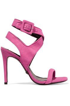 Schutz suede buckle fastening ankle strap sandal