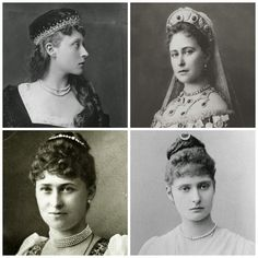 The Hesse Sisters, daughters of Princess Alice of Great Britain and the Grand Duke of Hesse: clockwise from left, Victoria (later Princess Louis of Battenberg, and Prince Philip's grandmother); Elisabeth, later Grand Duchess Sergei: Irene, later Prince Henry of Prussia; and Alix, later Empress Alexandra of Russia.