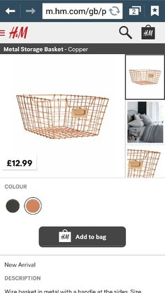 Could look funky on shelving unit - copper