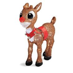 Pre-Lit Rudolph Display $299.00 1 out of 5 1 review   Write a review    Be the first to ask a question.  Captivate the neighborhood, and have the most memorable Christmas display on the block with our officially licensed, Pre-lit Rudolph and Clarice Reindeer .