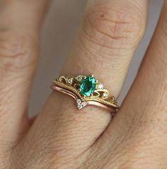 efb654c079ad5 Emerald Engagement Ring Emerald Diamond Ring Emerald Diamond Alliance,  Bijoux, Formes De Bague De