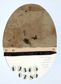 """© COLMADO MAZA Collage sobre madera (34 x 23,5 cm). Título: """"Se lo lleva el viento..."""""""