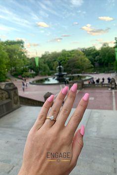 #engagementring #diamondring #diamond #solitairediamond #solitairering #yellowgold #rounddiamond #diamondshape #ringdesign #womensjewelry #bridaljewelry #weddingjewelry #proposalready #proposalplanning #weddingplanning #engagementinspiration #weddinginspiration #marriageproposal #diamondtrends #jewelrytrends #goldjewelry #goldring #summermanicure #engagementmanicure #pinknails #EngageJeweler #customjewelry Engagement Inspiration, Marriage Proposals, Yellow Gold Rings, Pink Nails, Jewelry Trends, Diamond Shapes, Ring Designs, Custom Jewelry, Round Diamonds