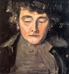 Portrait of the Artist's Mother Egon Schiele -...