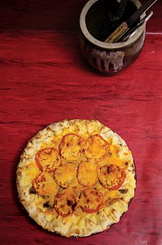 Tomato-Cheddar Tart Recipe - Saveur.com I've made this twice to rave reviews. :-) What a great use for summer-ripe tomatoes!