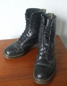 Vintage Doc Marten Boots Men's Sz 6 by MileZeroVintage on Etsy, $60.00  Wow I had some like this ... Should have kept them!