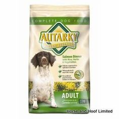 Autarky Salmon Adult Dog Food 15kg Autarky with Salmon Adult Dog Food is especially useful when feeding sensitive dogs or those that have a rough coat.