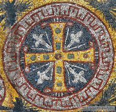 Cross Mosaic from Upper Gallery, Hagia Sophia. Mosaic Art, Mosaic Glass, Stained Glass, Byzantine Architecture, Art And Architecture, Hagia Sophia, Constantine The Great, Byzantine Art, Green Marble