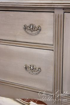PARIS GREY BUFFET-The Inspiration I've needed to make a decision on the finish for my bedroom furniture! Paris Gray and Antiquing!