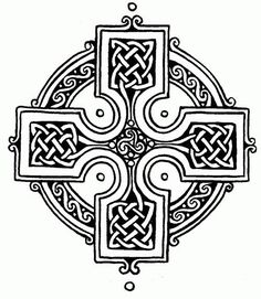 Symbols of Christianity: The Celtic Cross. Combining the cross with a ring surrounding the intersection. It is a characteristic symbol of Celtic Christianity, though it may have older, pre-Christian origins. Celtic Patterns, Celtic Designs, Cross Designs, Celtic Symbols, Celtic Art, Celtic Crosses, Celtic Knots, Scottish Symbols, Celtic Raven