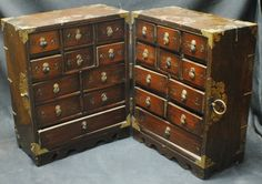 Chinese traveling apothecary chest