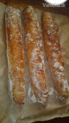 Bread Recipes, Cooking Recipes, Healthy Recipes, Ciabatta, Bread Rolls, How To Make Bread, Hot Dog Buns, Food And Drink, Lunch