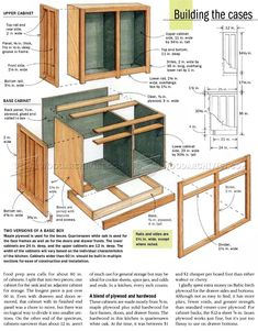 Kitchen Cabinets Plans - Furniture Plans and Projects - Woodwork, Woodworking, Woodworking Plans, Woodworking Projects Building Kitchen Cabinets, Diy Kitchen Cabinets, Kitchen Cabinet Design, Woodworking Kitchen Cabinets, How To Make Kitchen Cabinets, Kitchen Ideas, Kitchen Craft, Kitchen Corner, Diy Furniture Projects