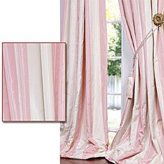 Pink And Cream Striped Curtains Pink and Cream Cupcakes