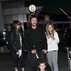 Christian Bale and his family are seen arriving at LAX in Los Angeles