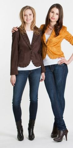 Cropped jacket with braided accents in a variety of colours