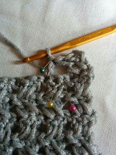 簡単!かぎ針模様編みスヌードの編み方|Crochet and Me かぎ針編みの編み図と編み方 Bobby Pins, Sewing Projects, Hair Accessories, Knitting, Pattern, Ideas, Tejidos, Tricot, Patterns