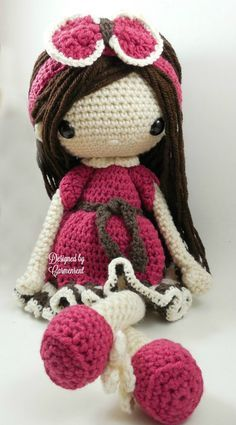 Nathalie-Amigurumi muñeca ganchillo patrón PDF por CarmenRent