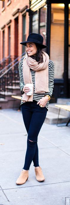 matching booties + chunky scarf for fall