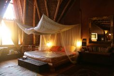 Campi ya Kanzi safari camp comprises 6 thatched roof tented cottages and the Hemingway and Simba suites to allow you to safari in style