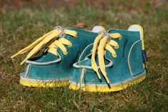 Krabbelschuhe - Gucio Schuhe Leder Türkisgrün ** NEU ** Babyschuhe - ein Designerstück von amifi-store bei DaWanda