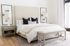 Who says beige needs to be boring? It's the perfect hue for a calming feel in your bedroom. @studiomcgee shows us that, when done correctly, it can also look elegant and stylish.