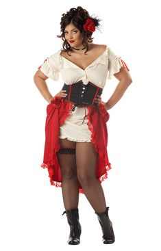 Cantina Gal Plus Size Costume for Halloween - Pure Costumes